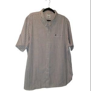 Timberland Regular Fit Plaid Button Down Shirt 2XL